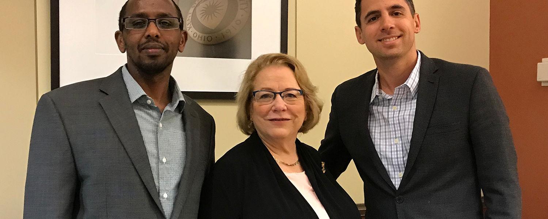 Drs. Abdihafit Shaeye, Linda Robertson, and Shawn Rohlin