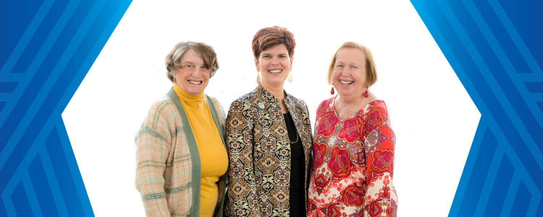 Sandie Kramer, Dean Denise A. Seachrist and Barb Preston