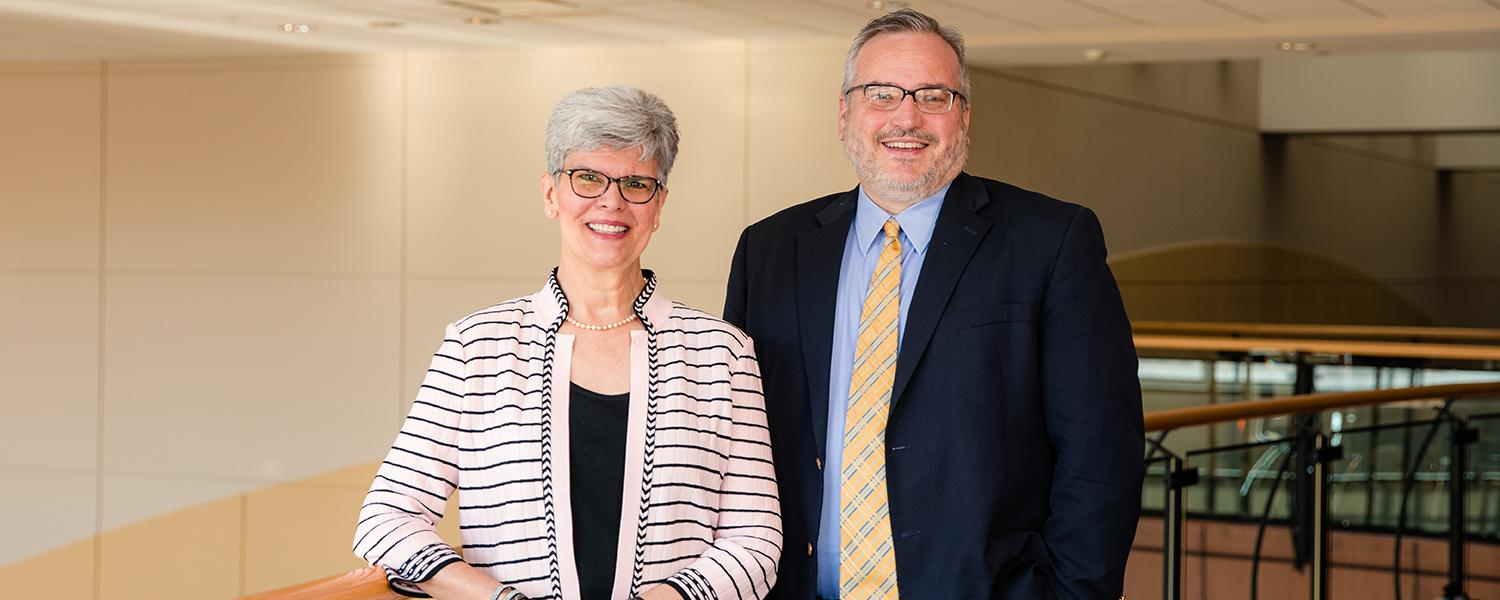 Dr. Denise A. Seachrist and Dr. Robert D. Sturr, deans at Kent State University at Stark