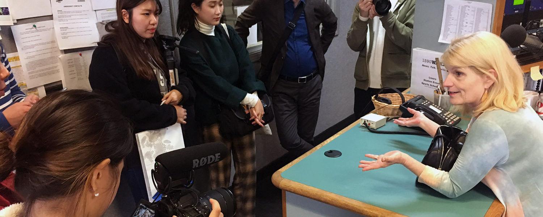 Photo of South Korean students at WAKR