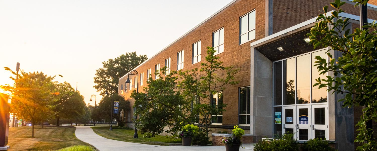 Glauser School Exterior Sunrise | Photo Credit: Andrew Paa