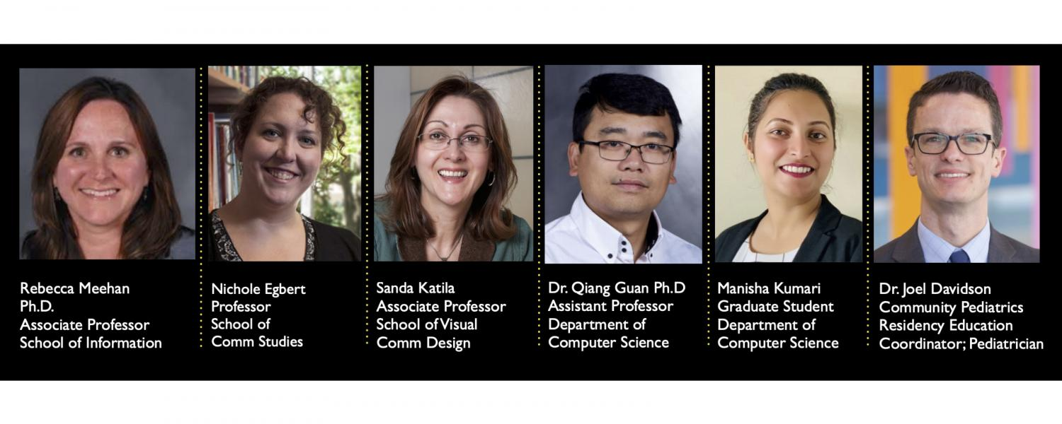 Headshots of faculty involved in STREAM project