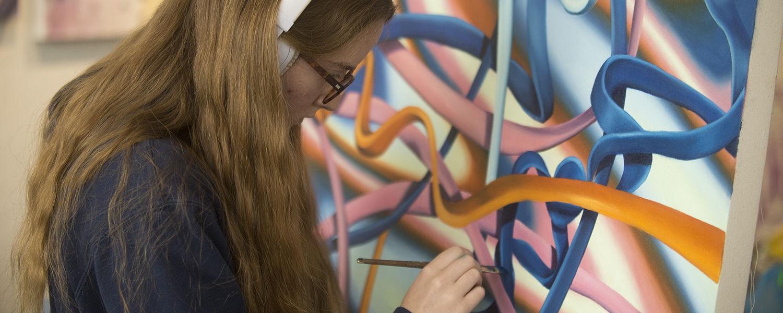 Sarah Kronz - Scholarship winners spring 2019.  Student painting.