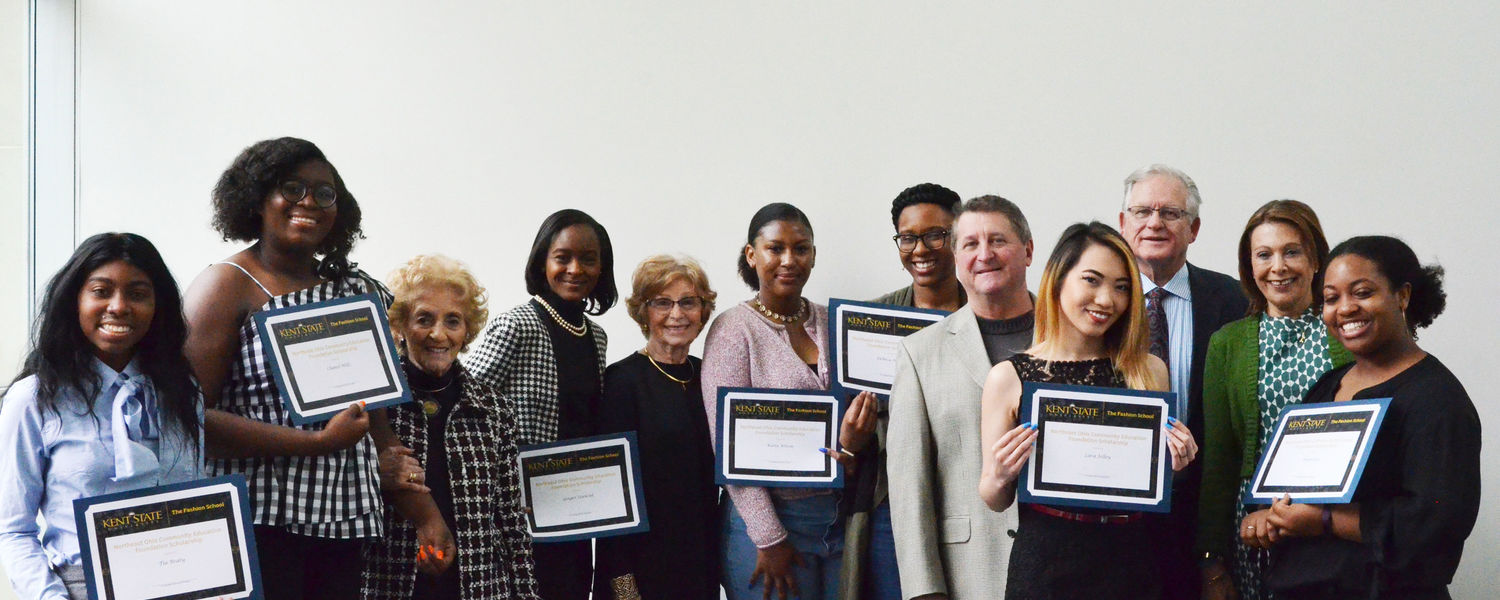 Select few 2018 scholarship winners and the award donors