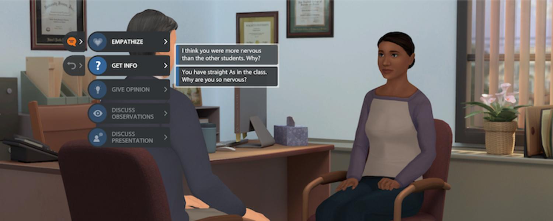 Student/Teacher conversation animation