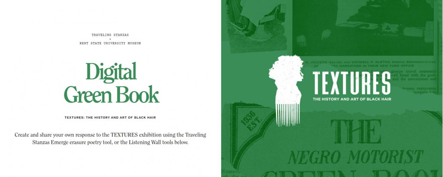 Digital Green Book landing page with description and TEXTURES logo
