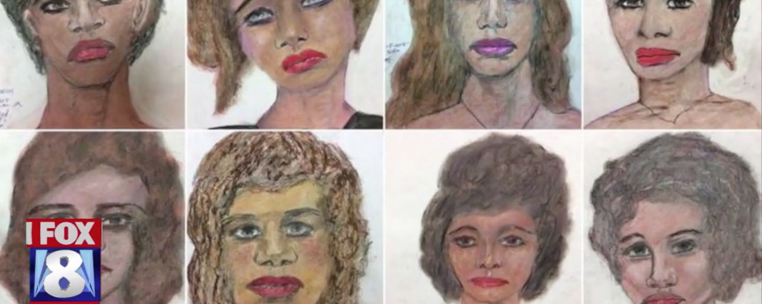FBI-Released Sketches from Confessed Serial Killer