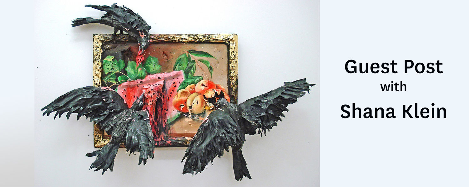 Guest Post with Shana Klein - Valerie Hegarty, Still Life with Watermelon, Peaches and Crows, 2013