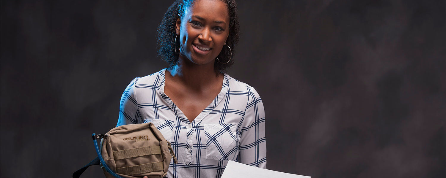 Shanice Cheatham worked with Kent State's College of Public Health and LaunchNET Kent State to help her company, Endemic Solutions, develop its Endemic Filtration Portable Handwashing System.