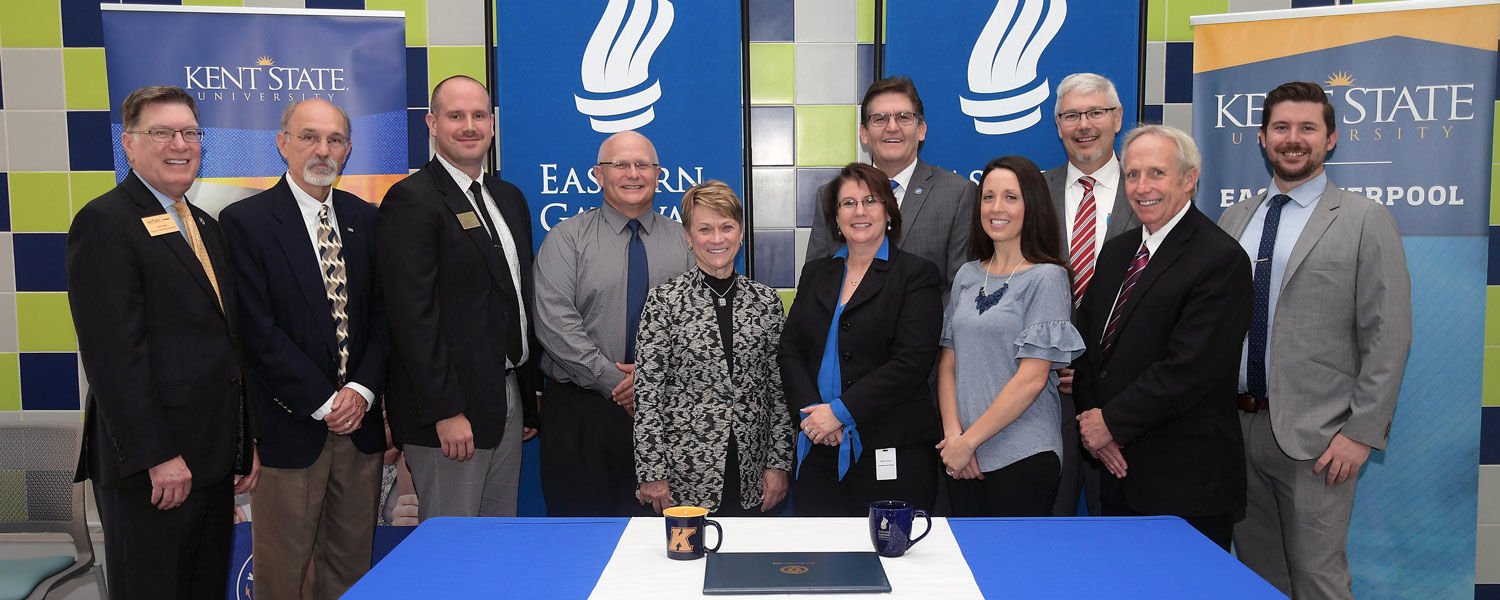 It took a team to make the agreement between Kent State University and Eastern Gateway Community College possible.