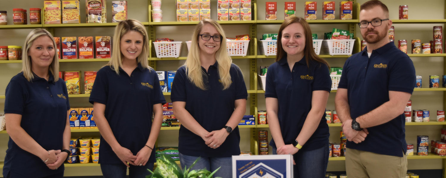 Members of the Student Leadership Council are taking an active role in managing Flash's Food Pantry  on the East Liverpool Campus.