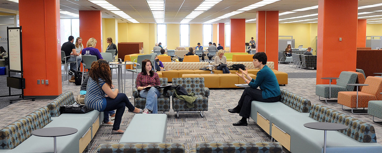 Kent State students spend time in the Fab Fourth, forming study groups, during finals week.