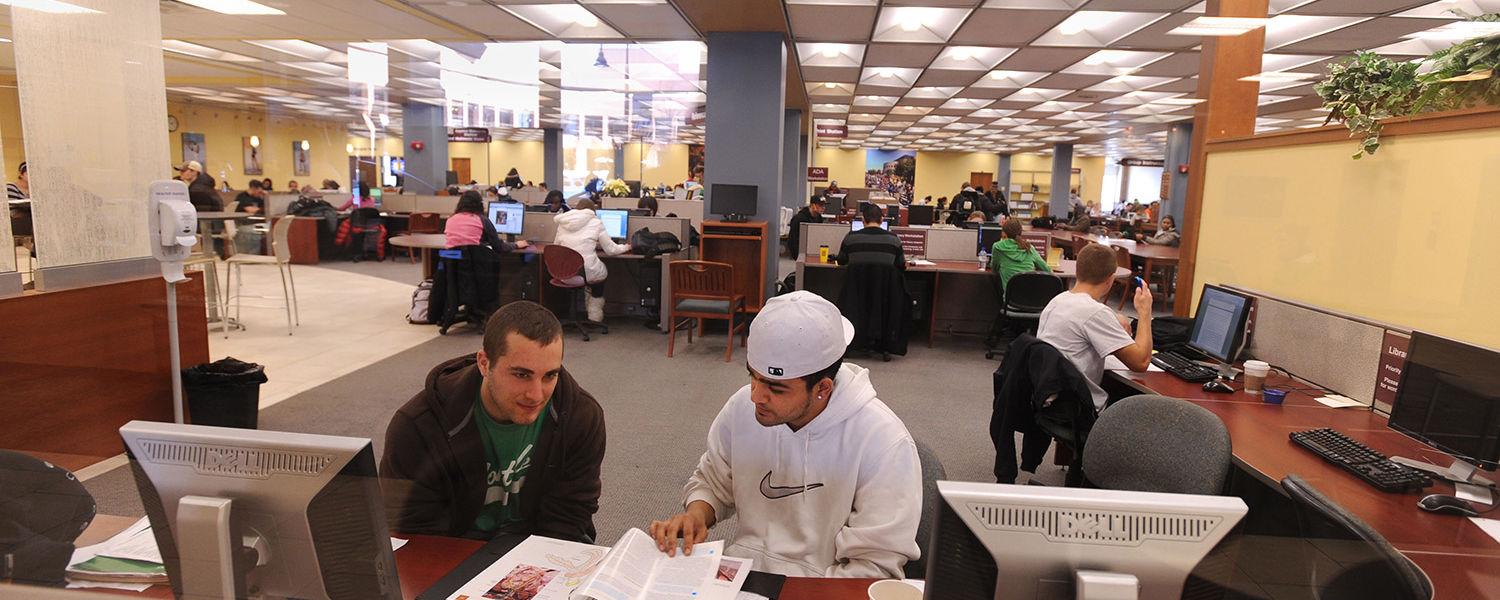 Kent State students study and work on their class assignments in the library. For finals, the library is open 24 hours a day through May 9.