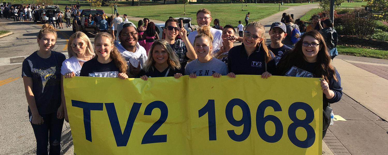 TV2 at Homecoming Parade, 2017