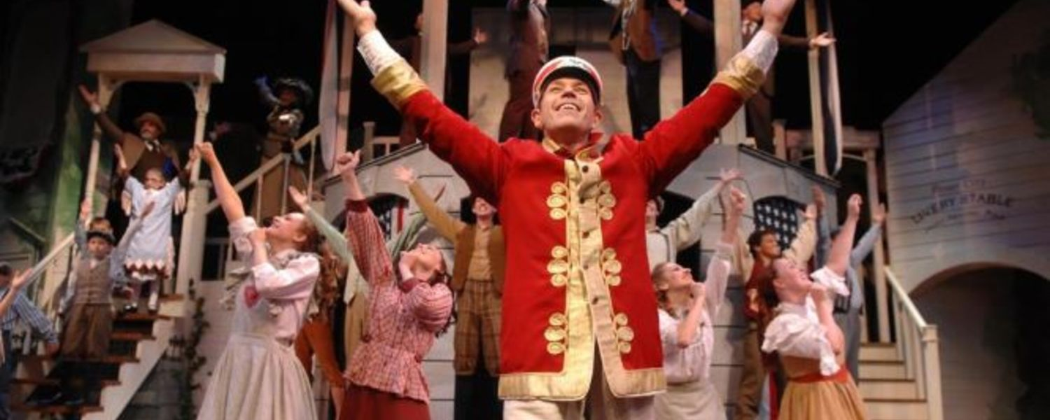 """Eric van Baars performs the role of Harold Hill in the Porthouse Theatre's production of """"The Music Man."""""""