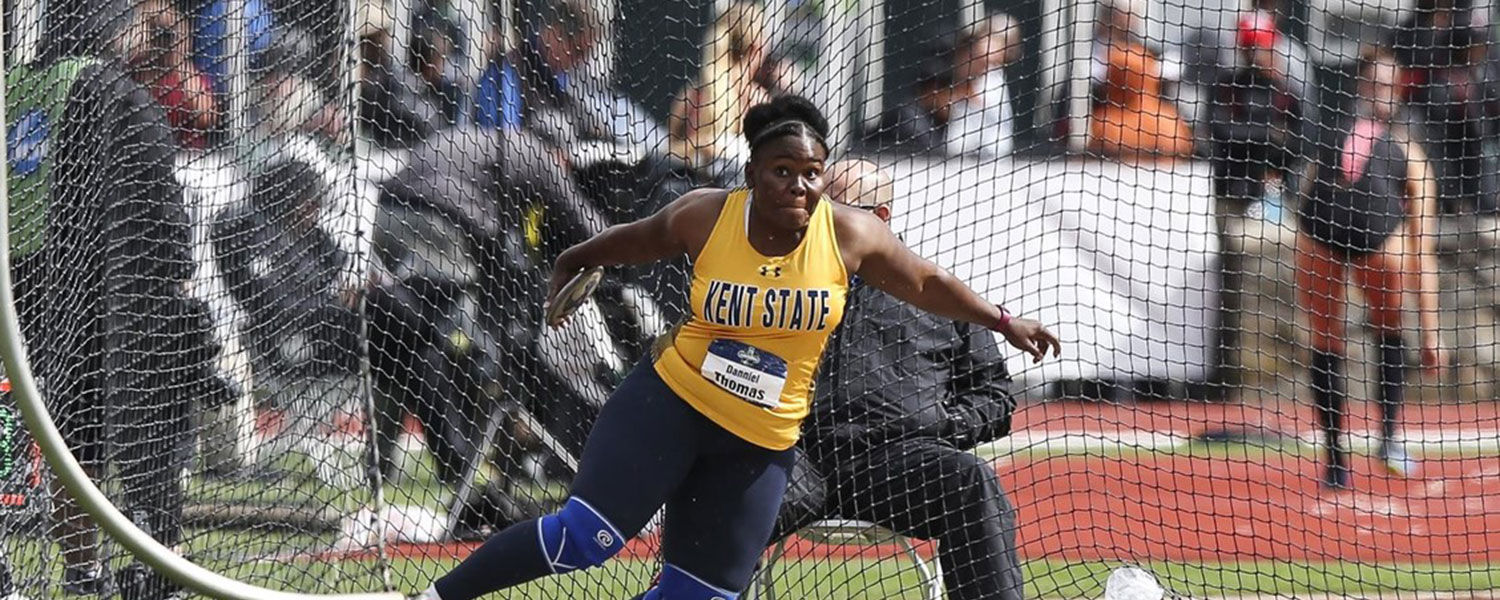 Kent State track and field's Danniel Thomas-Dodd has been nominated for the 2017 NCAA Woman of the Year award.