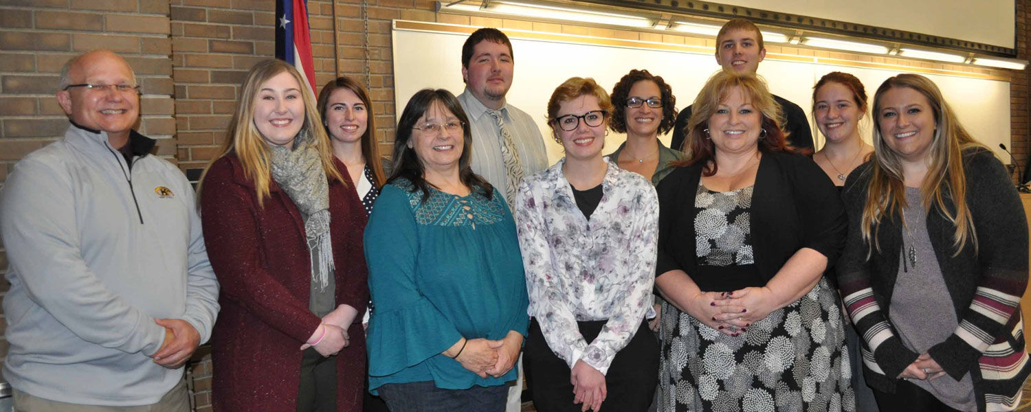 In the winners' circle following the 2017 Undergraduate Research Conference at Kent State Salem