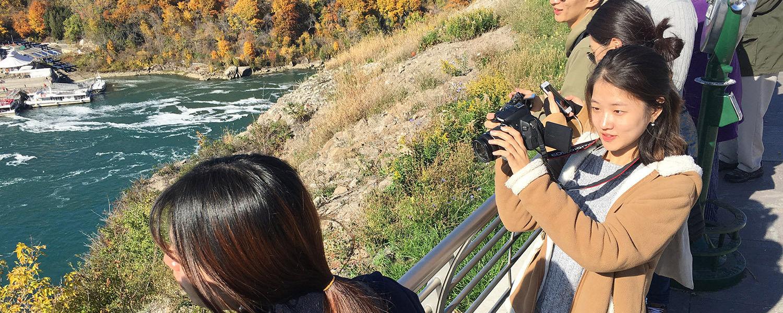 South Korean students visit Niagara Falls