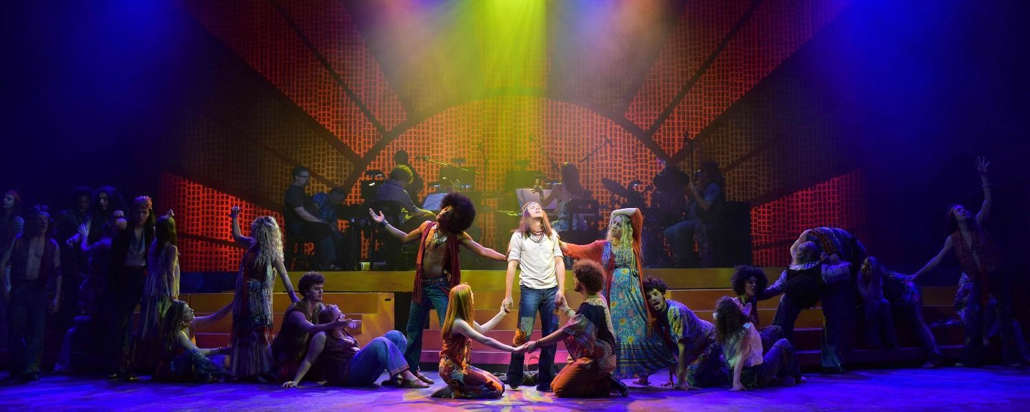 The cast of Hair