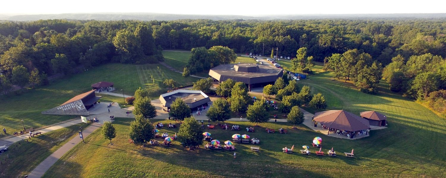 Aerial photo of Porthouse Theatre