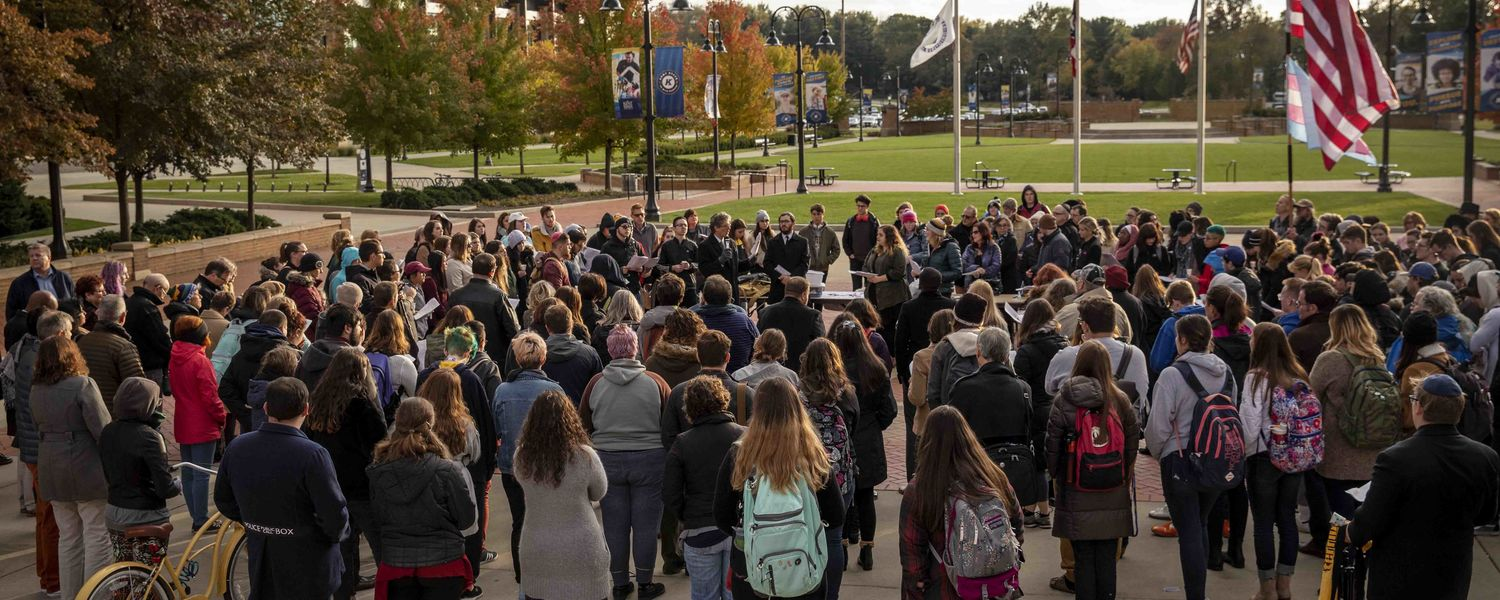 More than 100 students, staff, faculty and community members gathered Oct. 29 for a candlelight vigil.