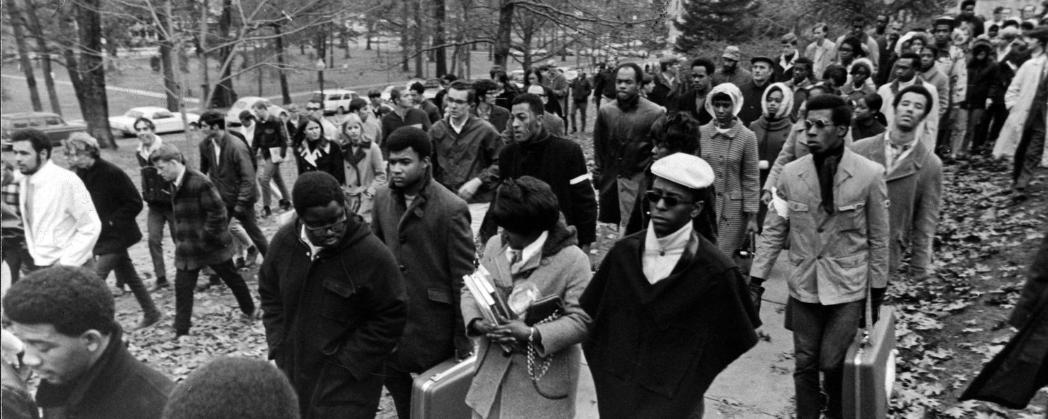 Students participate in the 1968 walkout. (Photo credit: Douglas Moore)