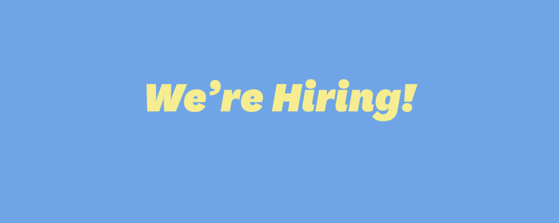 image that says we're hiring