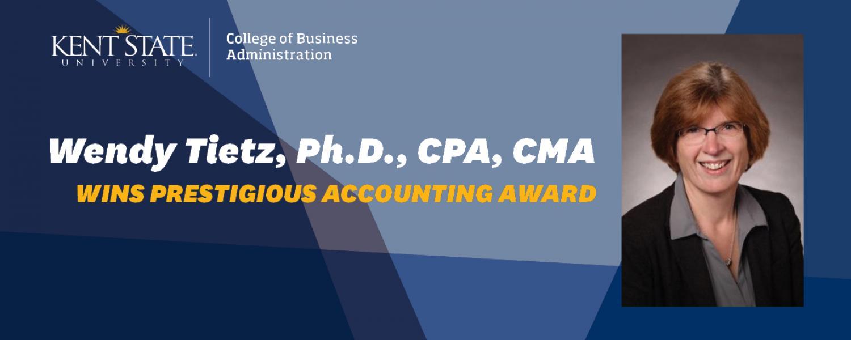 Wendy Tietz Wins Prestigious Accounting Award