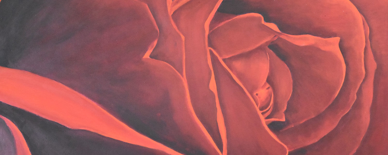 """""""Flowers by Peggy"""" a series of paintings by local artist Peggy Albert Mangano"""