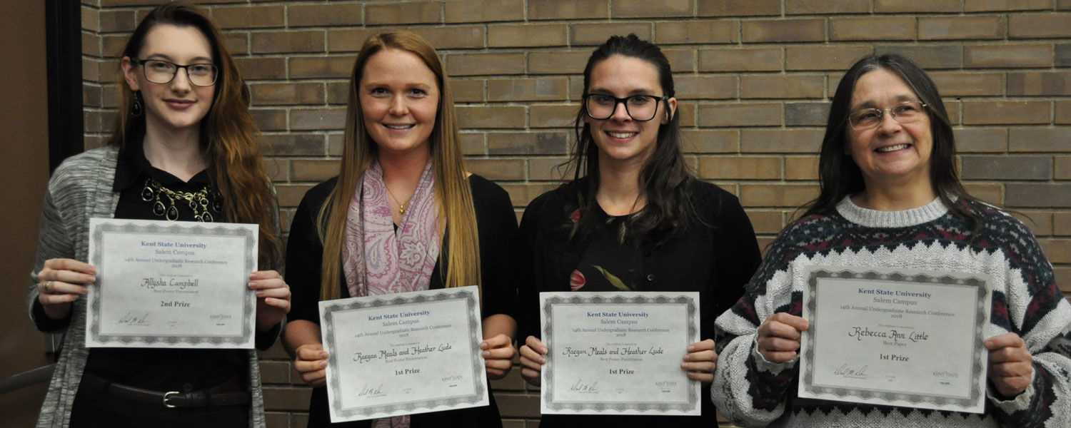 Winners from the 2018 URC included (from left) Allysha Campbell, Raegan Meals, Heather Lude and Rebecca Little