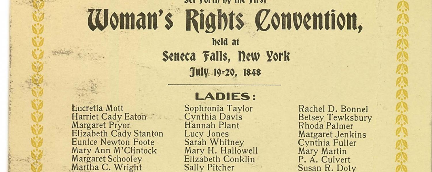 Eunice Foote was the fifth name on the list of signatures on the declaration that emerged at the 1848 Seneca Falls Convention. Her husband also signed the document.Credit: (Library of Congress)