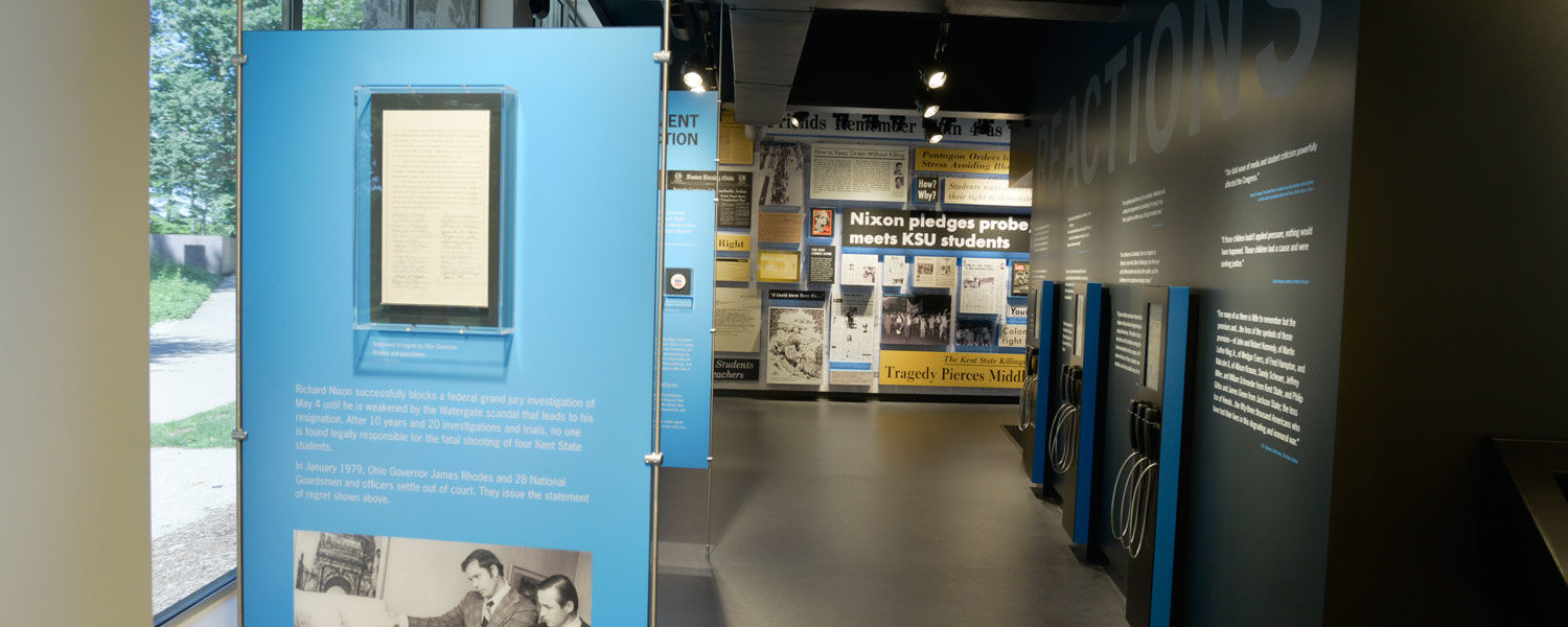 artifacts and multimedia to tell the story of the decade leading up to May 4
