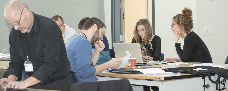 International Society of Typographic Designers Student Assessment scheme in the MAC Center Annex