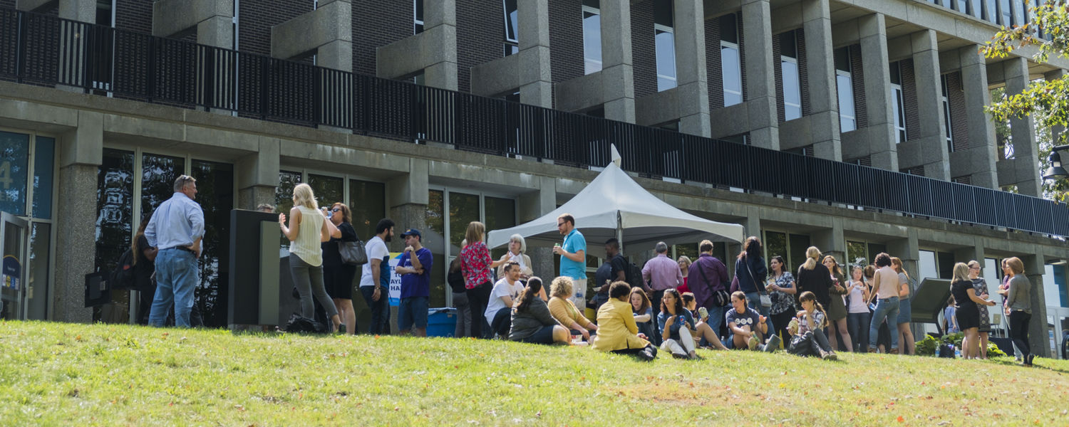 The School of Communication Studies kicked off its celebration with a picnic outside of Taylor Hall.