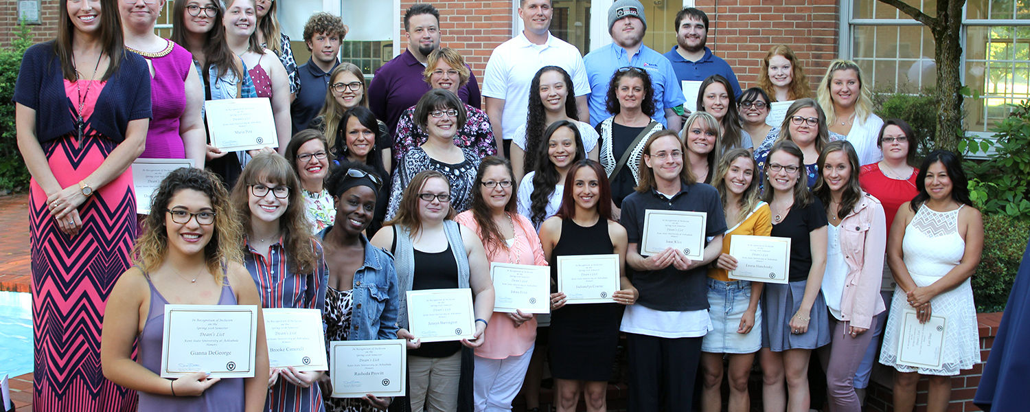 Ashtabula Campus Spring 2018 Dean's List and President's List Students