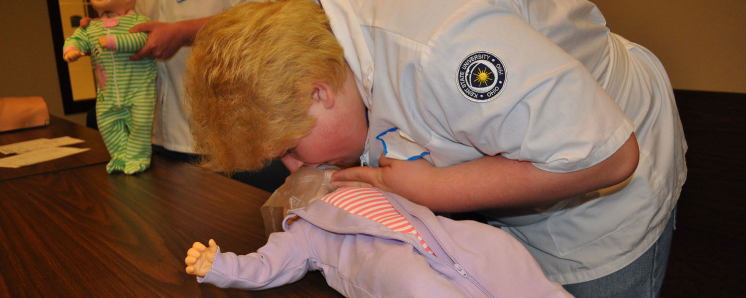 Infant CPR was one of the topics explored at the Nurse Boot Camp for Rural Scholars