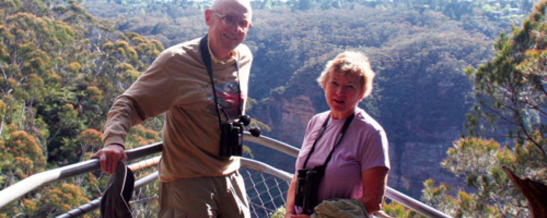 Professors G. Dennis Cooke and Barbara Andreas.