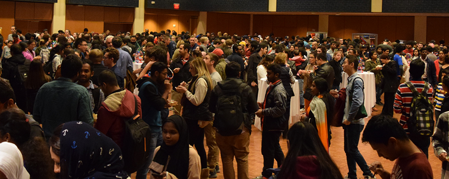 The Ballroom is packed nearly to capacity by the nearly 900 Cook-Off attendees