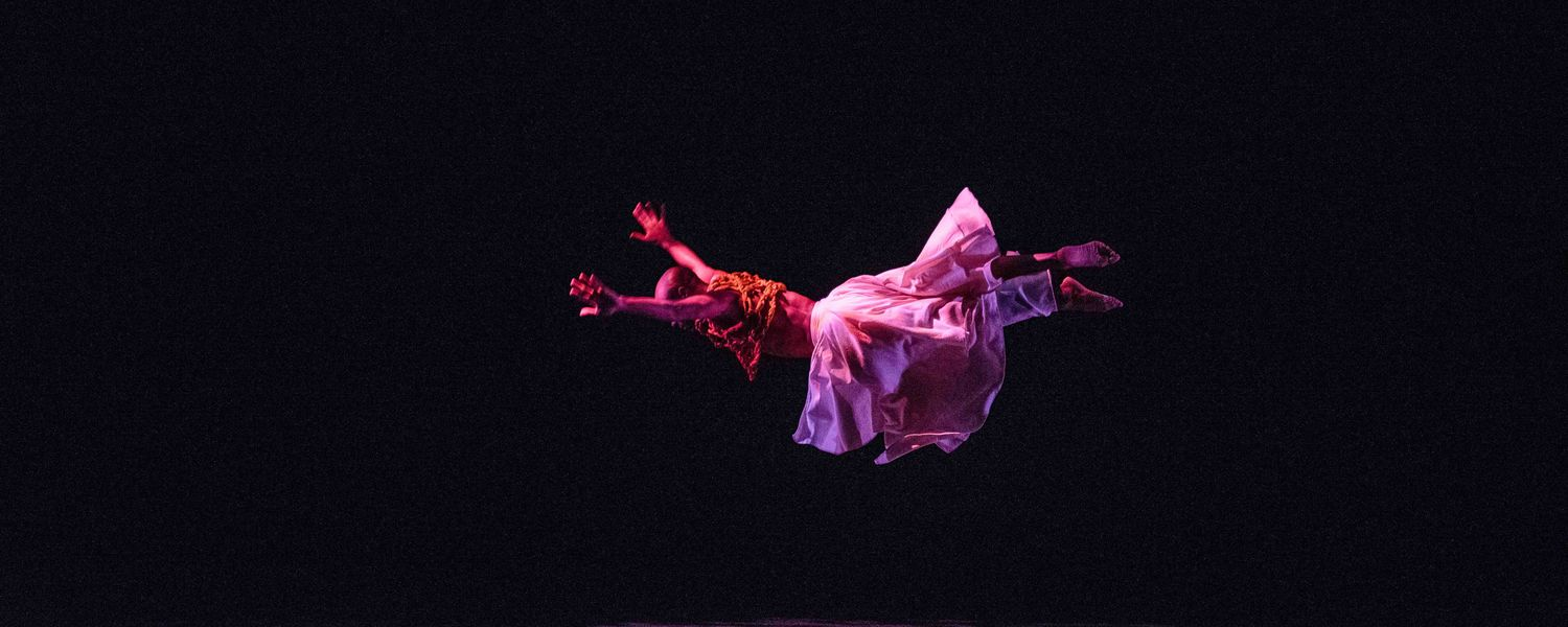 A dance student performs original choreography by Gregory King