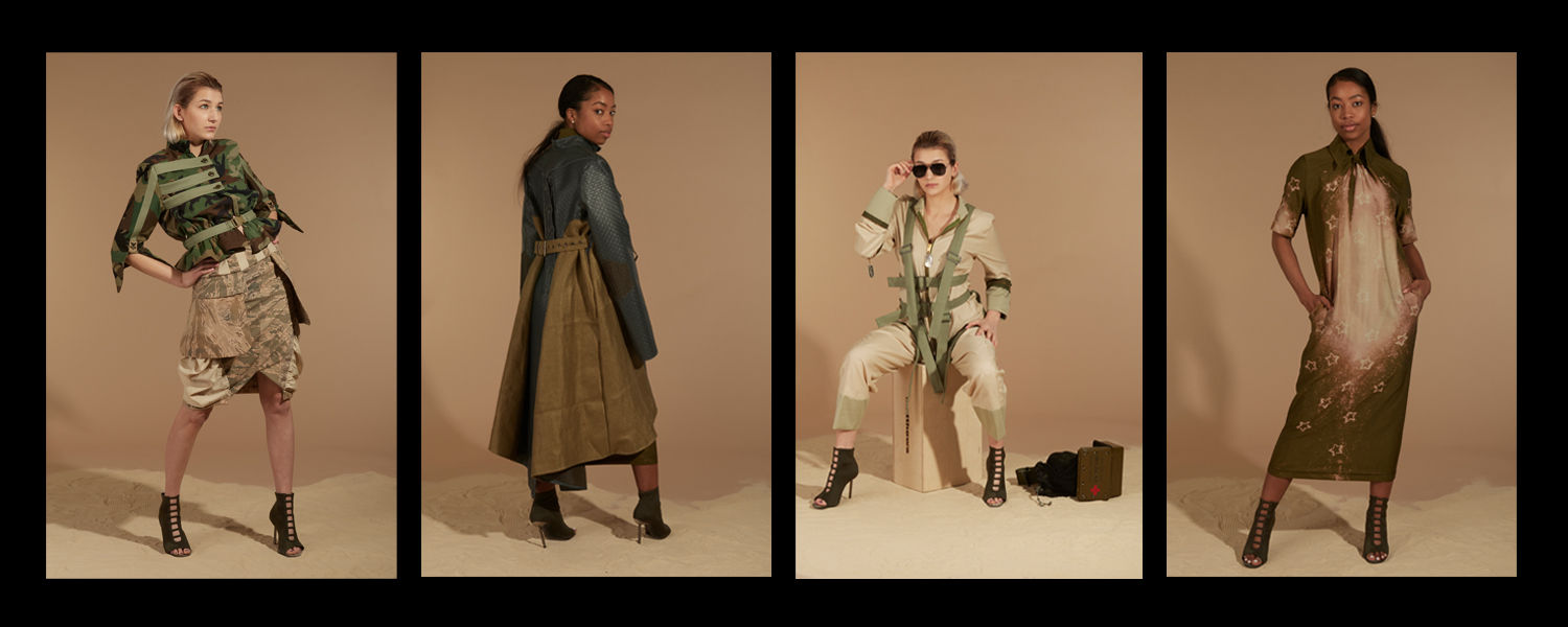 """Looks from Isabella Diorio's collection, """"F.E.T."""" (Photos by Emily Warfield)."""