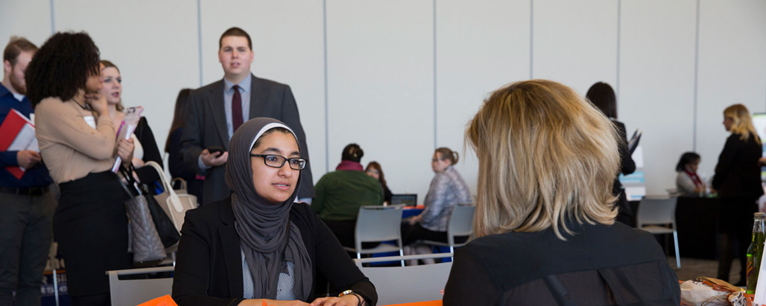 A Kent Student Attends the Career Expo