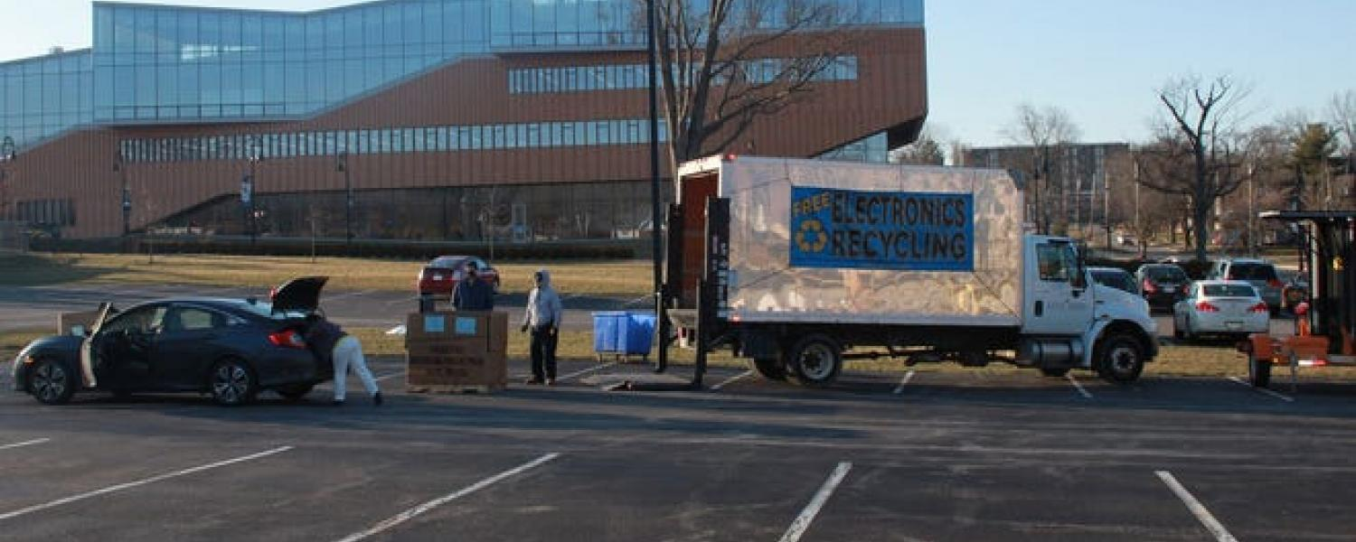 Kent State University holds a free recycling event that is open to students, faculty, staff and Kent community members.