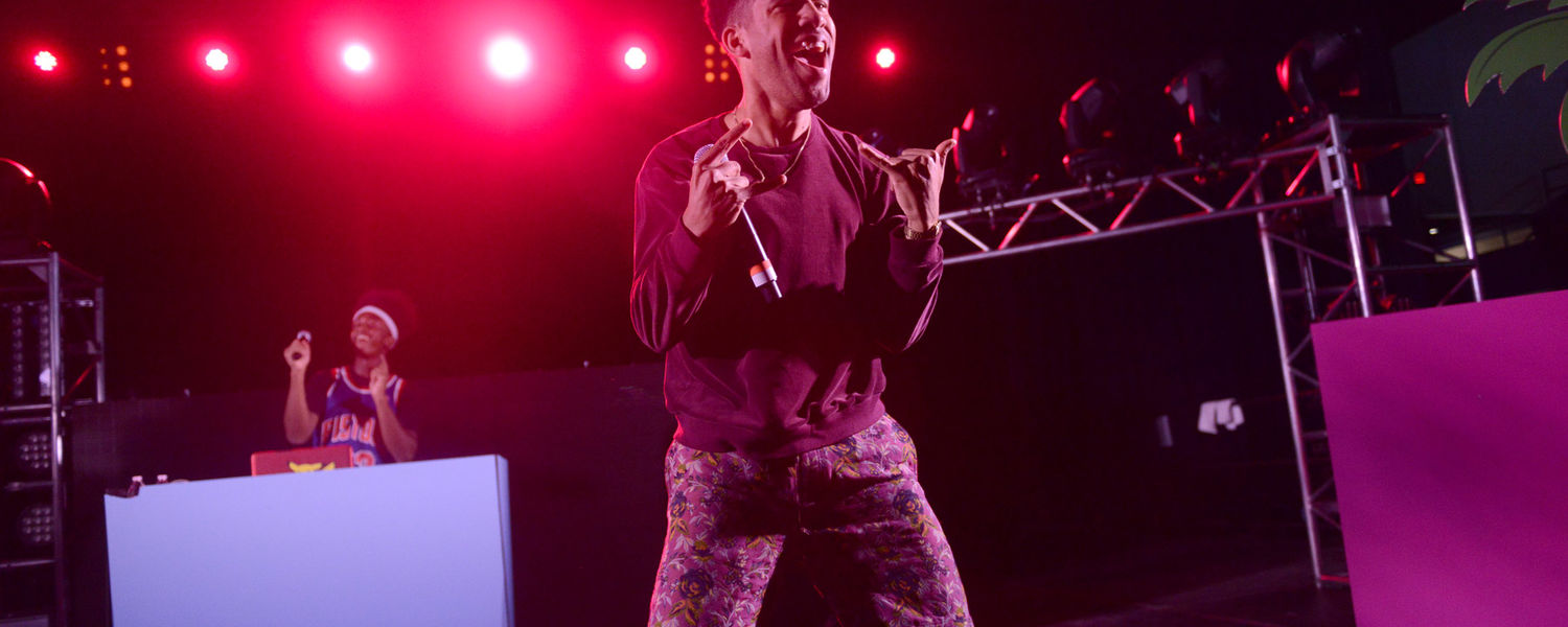 Kyle, also known as Super Duper Kyle, performed at Kent State's FlashFest 2015 before the three main acts took the stage.