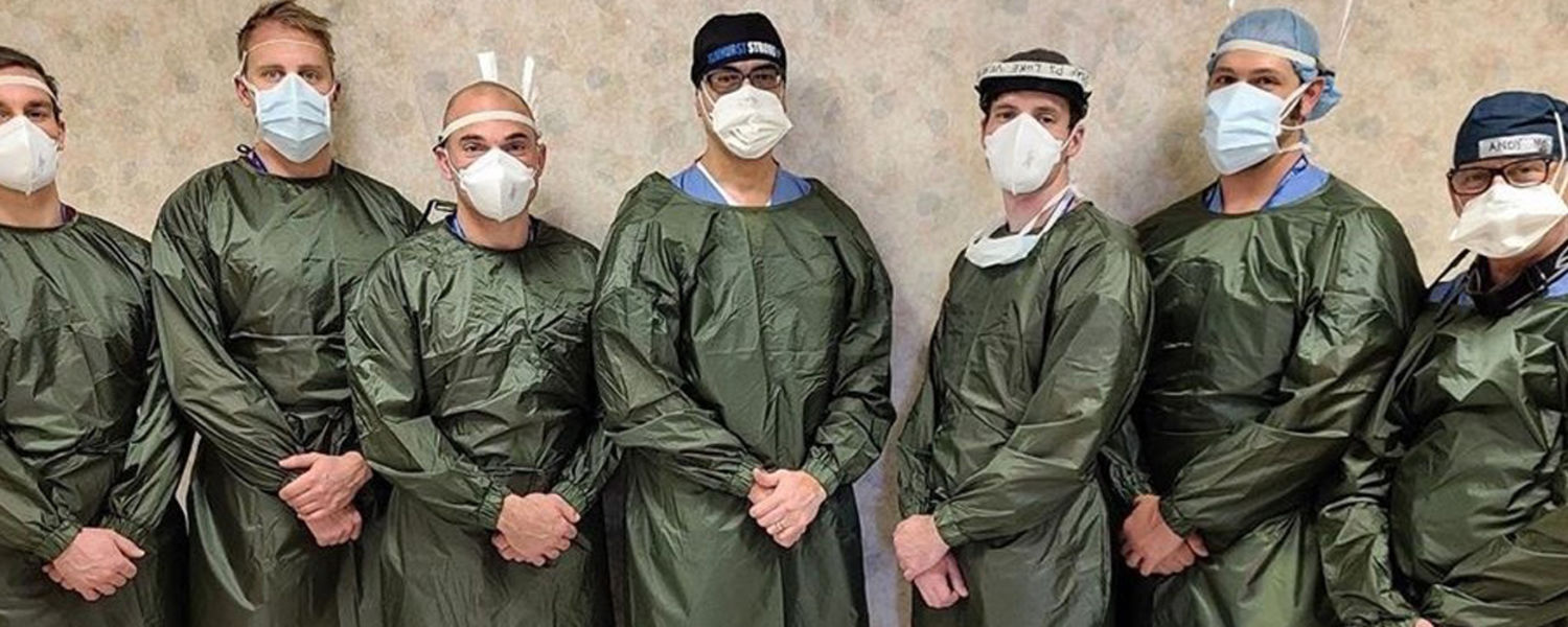 Gowns are worn by Elmhurst Hospital residents in New York.. (Photo: Garment District for Gowns)