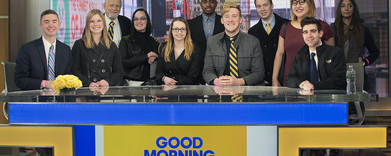 JMC Advanced Producing class on the set of Good Morning America