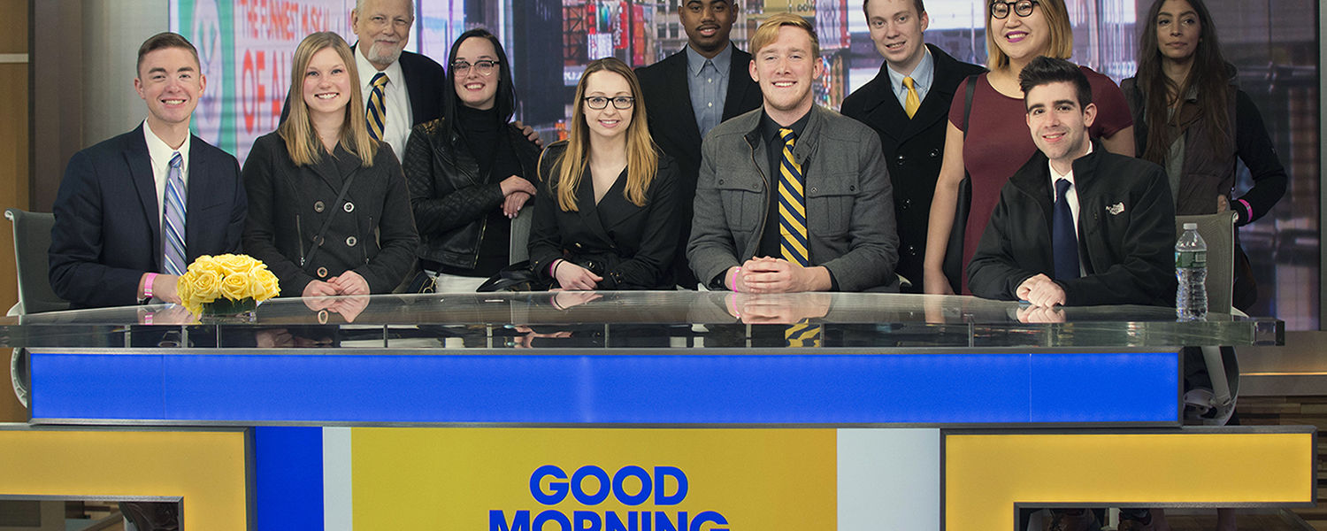 JMC Advanced Producing class on the set of Good Morning America