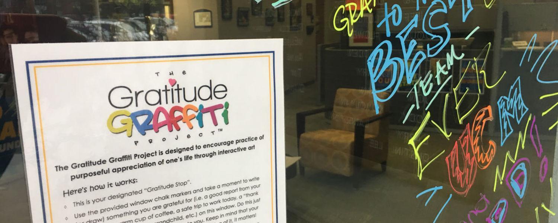 Graffiti for gratitude at Kent State