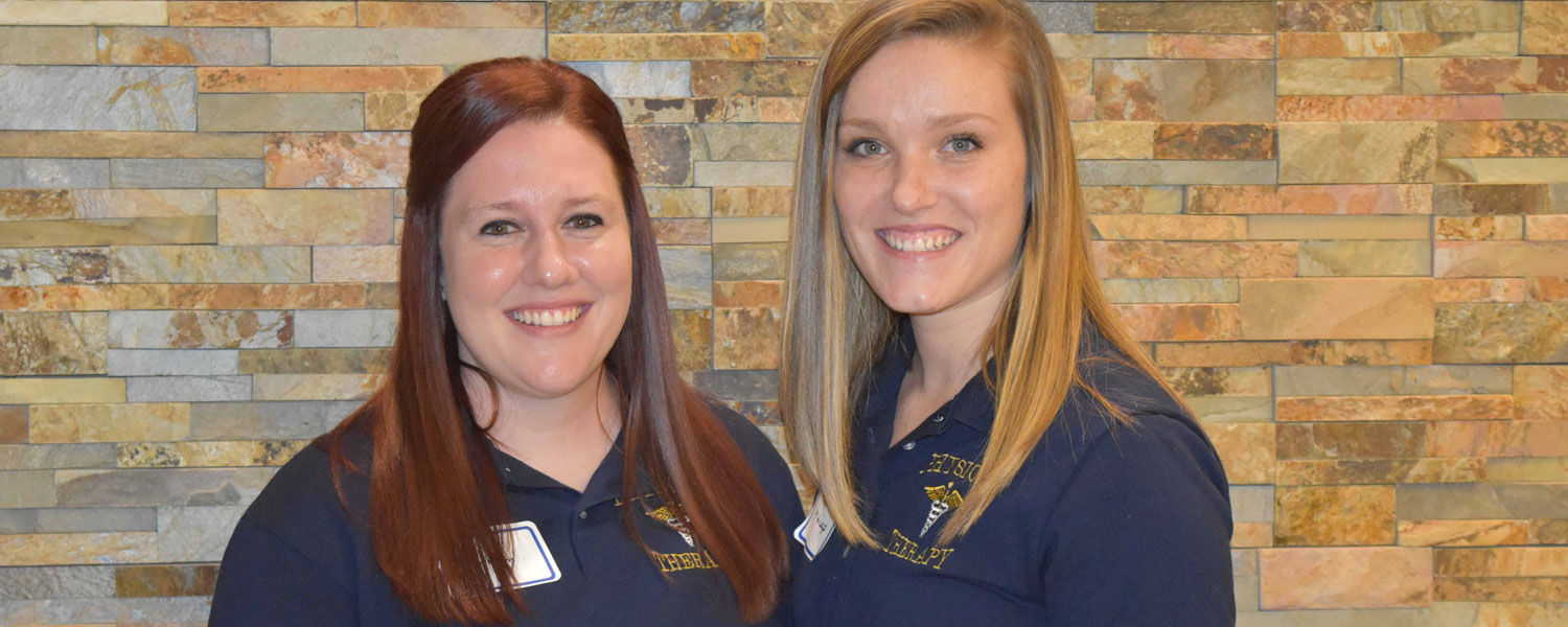 PTA students (from left) Lacie Graham and Jordyn Midcap