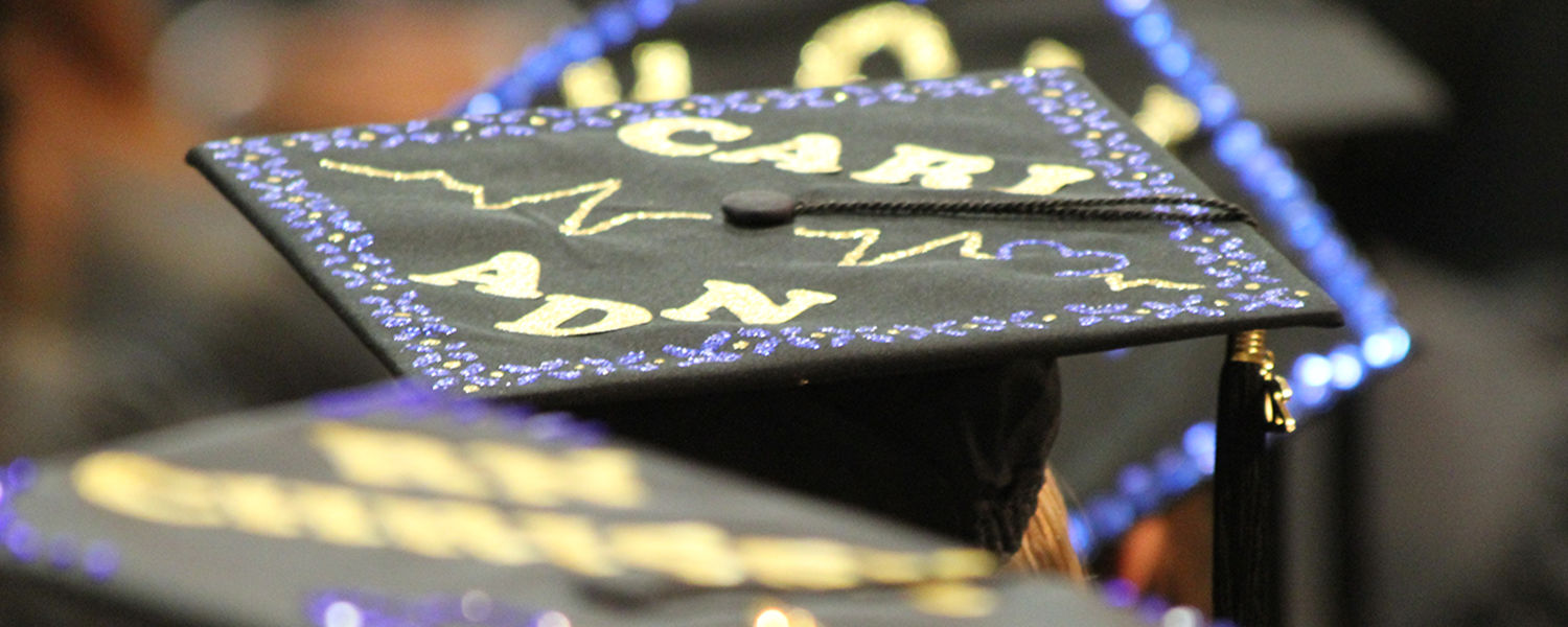 Kent State Ashtabula decorated graduation cap