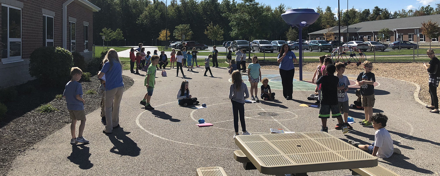 Ashtabula OTA Students working with elementary children as part of the Every Moment Counts program